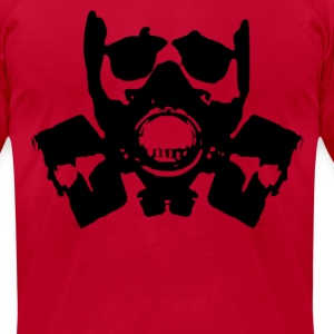 Skull Gasmask T-Shirts - Men's T-Shirt by American Apparel