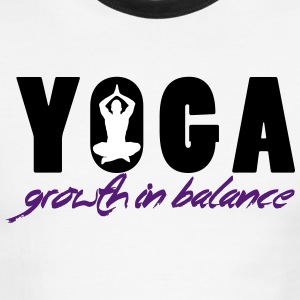 YOGA - Growth in Balance T-Shirts - Men's Ringer T-Shirt