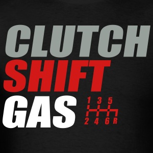 clutchshiftgas mens t shirt - Racing T Shirt Design Ideas
