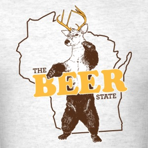 WISCONSIN THE BEER STATE T-Shirts - Men's T-Shirt