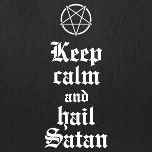 Keep calm and hail Satan V.2 Bags & backpacks - Tote Bag