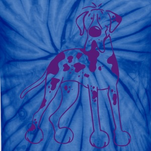 German Great Dane - Dog - Bulldog Cartoon T-Shirts - Unisex Tie Dye T-Shirt