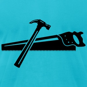 A hammer and a saw  T-Shirts - Men's T-Shirt by American Apparel