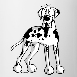 Great Dane - Dog - Dogs - Breed - Cartoon Bottles & Mugs - Contrast Coffee Mug