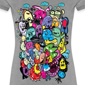 Colorful Monsters Women's premium T-shirt - Women's Premium T-Shirt