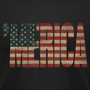 Vintage US Flag 'MERICA T-shirt - Men's T-Shirt by American Apparel