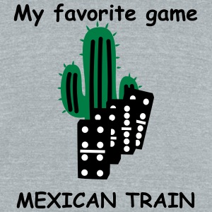 Mexican Train domino tiles T-Shirts - Unisex Tri-Blend T-Shirt by American Apparel