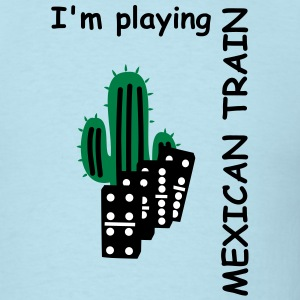 Mexican Train domino tiles T-Shirts - Men's T-Shirt