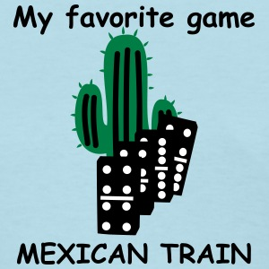 Mexican Train domino tiles Women's T-Shirts - Women's T-Shirt