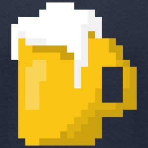 Beer 8bit - Men's T-Shirt by American Apparel