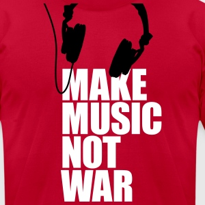 Make music not war T-Shirts - Men's T-Shirt by American Apparel