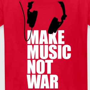 Make music not war Kids' Shirts - Kids' T-Shirt