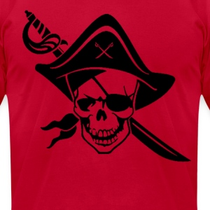 Pirate Skull T-Shirts - Men's T-Shirt by American Apparel