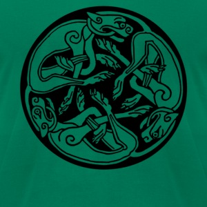 Celtic Dogs T-Shirts - Men's T-Shirt by American Apparel