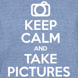 Keep Calm & Take Pictures - Unisex Tri-Blend T-Shirt by American Apparel