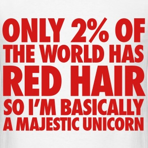 Only 2% Of The World Has Red Hair T-Shirts - Men's T-Shirt