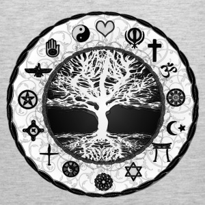 Tree of Life Unity Featuring all Religions  - Men's Premium Tank