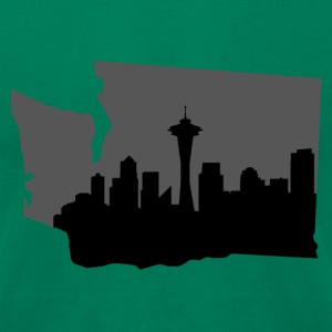 Seattle Skyline T-Shirts - Men's T-Shirt by American Apparel