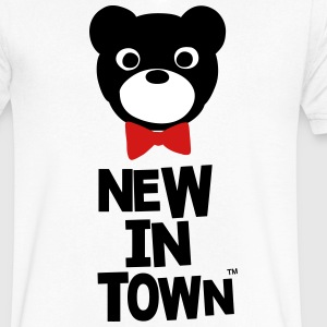 NEW IN TOWN T-Shirts - Men's V-Neck T-Shirt by Canvas