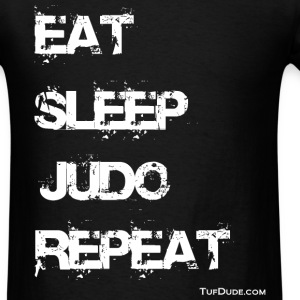 Eat Sleep Judo Repeat 002 wb TD T-Shirts - Men's T-Shirt
