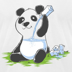 cust panda.png T-Shirts - Men's T-Shirt by American Apparel