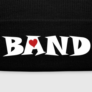 Band Small Heart Caps - Knit Cap with Cuff Print