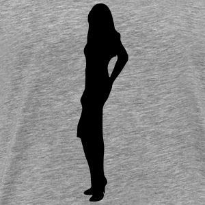 Suggestive woman - Men's Premium T-Shirt