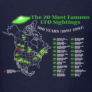UFOs Best Of 100 years - Men's T-Shirt