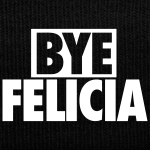 Bye Felicia Caps - Knit Cap with Cuff Print