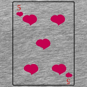 5 Of Hearts - Men's Premium T-Shirt