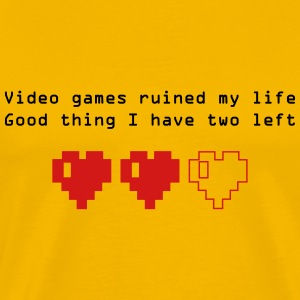 Videogames ruined my life - Men's Premium T-Shirt