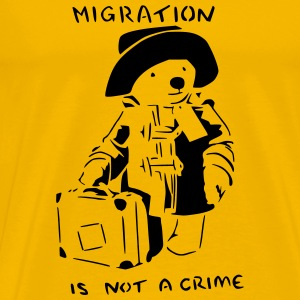 migration is not a crime - Men's Premium T-Shirt