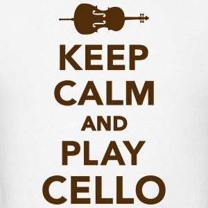 Keep calm and Play Cello T-Shirts - Men's T-Shirt