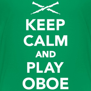Keep calm and Play Oboe Kids' Shirts - Kids' Premium T-Shirt