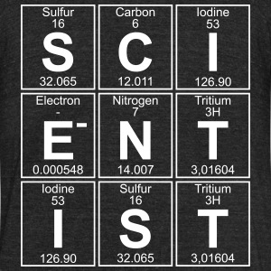 S-C-I-E-N-T-I-S-T (scientist) T-Shirts - Unisex Tri-Blend T-Shirt by American Apparel