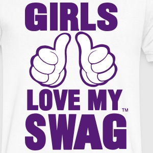 GIRLS LOVE MY SWAG - Men's V-Neck T-Shirt by Canvas
