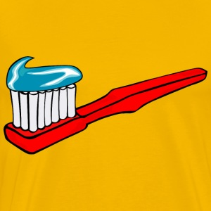 Toothbrush With Toothpaste - Men's Premium T-Shirt