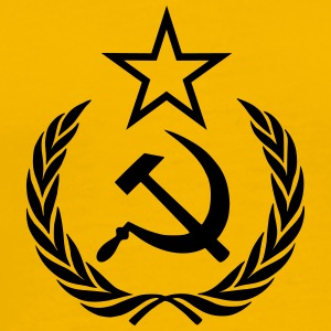hammer sickle star wreath - Men's Premium T-Shirt