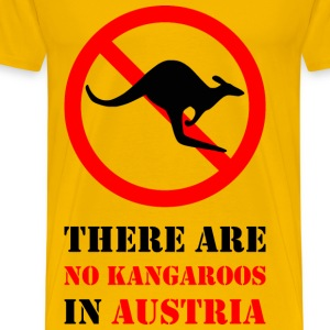 No Kangaroos in Austria - Men's Premium T-Shirt
