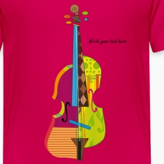 A colorful violin  Kids' Shirts