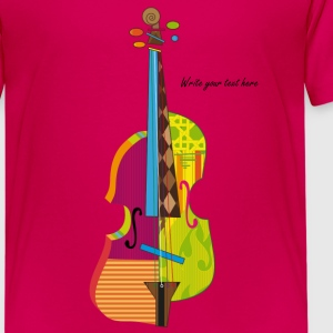 A colorful violin  Kids' Shirts - Kids' Premium T-Shirt