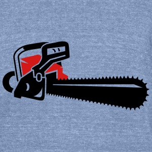 A chainsaw T-Shirts - Unisex Tri-Blend T-Shirt by American Apparel