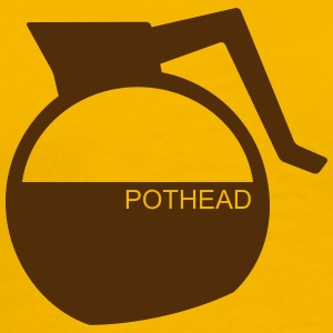 (Coffee)-Pot Head - Men's Premium T-Shirt