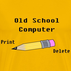 Old school Computer - Men's Premium T-Shirt