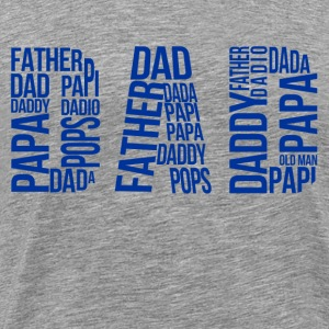 dad_typography T-Shirts - Men's Premium T-Shirt