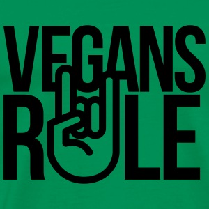 vegans rule T-Shirts - Men's Premium T-Shirt