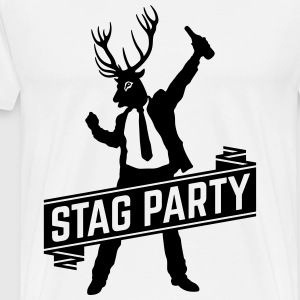 Stag Party / Bachelor Party (1C) T-Shirts - Men's Premium T-Shirt