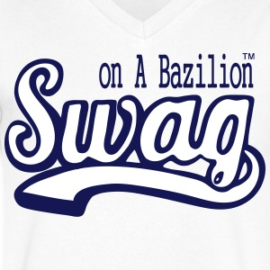 SWAG ON A BAZILION - Men's V-Neck T-Shirt by Canvas