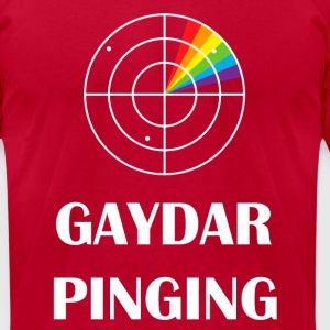 gaydar pinging funny pride T-Shirts - Men's T-Shirt by American Apparel