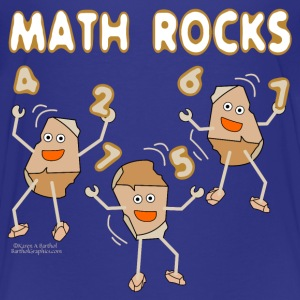 White Math Rocks  Kids' Shirts - Kids' Premium T-Shirt